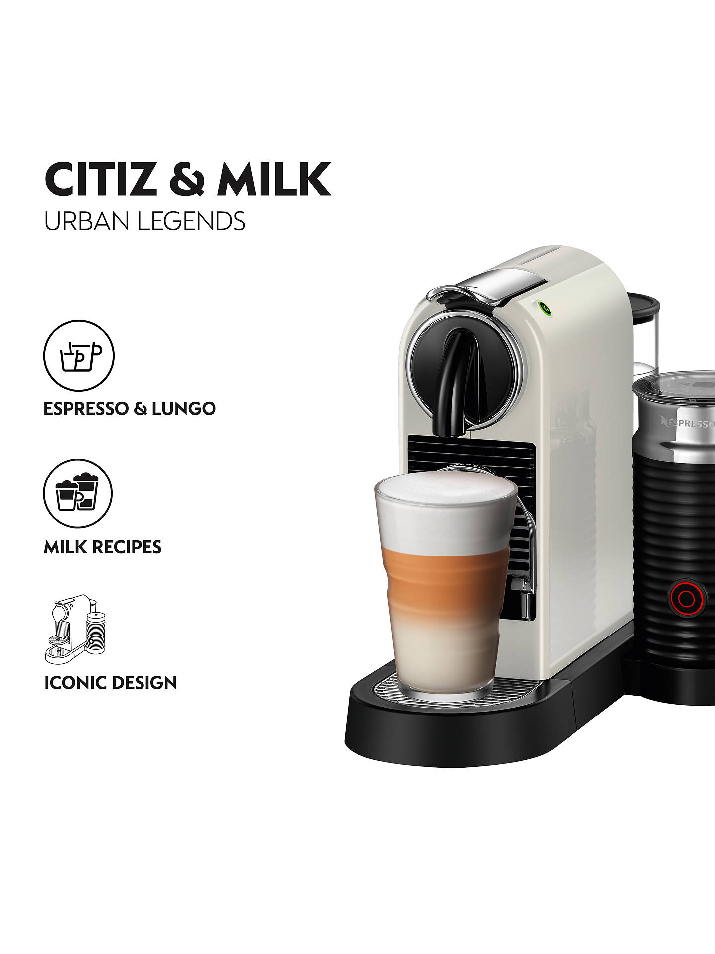 Nespresso CitiZ & Milk Coffee Machine by Magimix at John ...