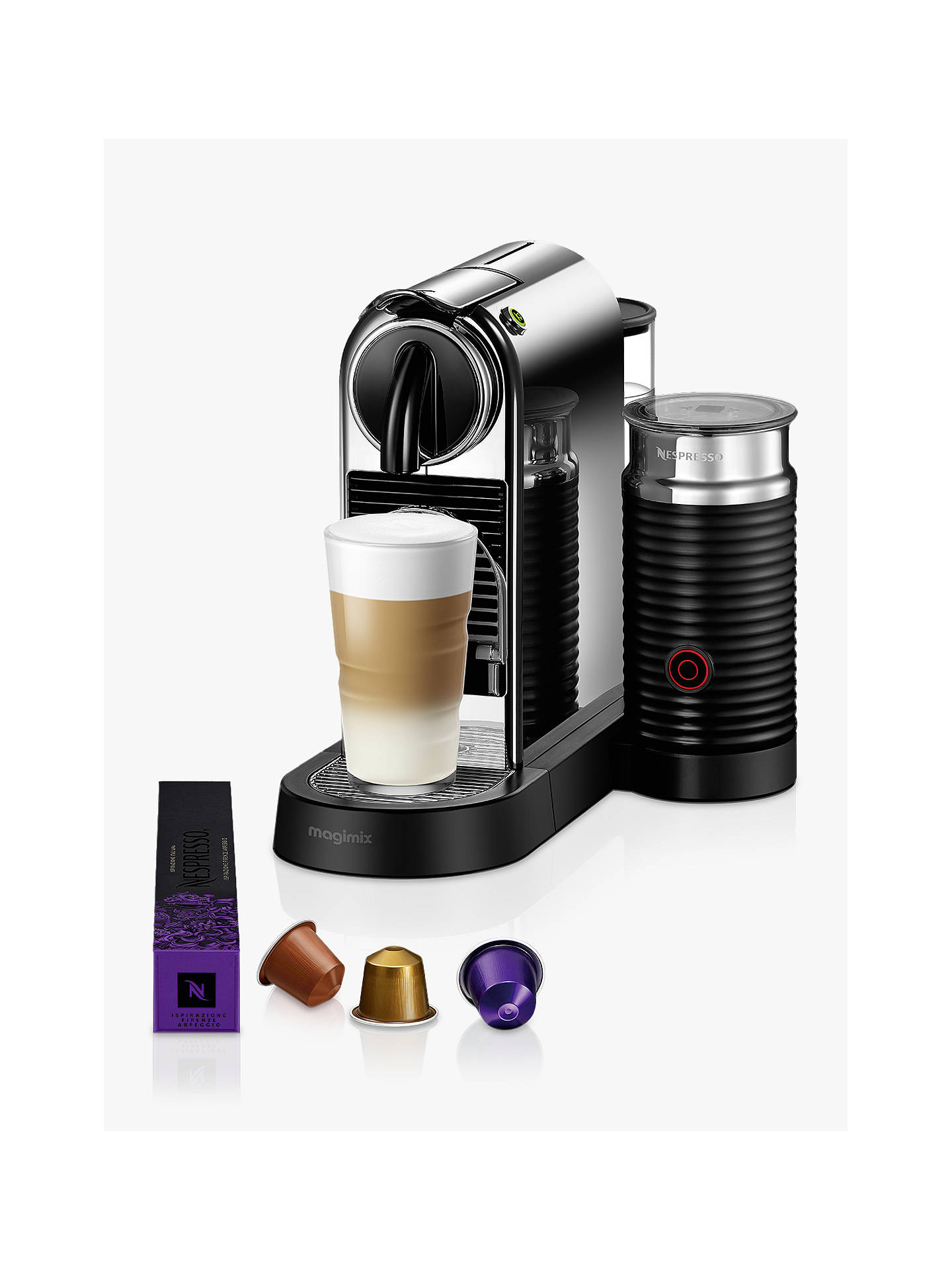 BuyNespresso CitiZ & Milk Coffee Machine by Magimix, Chrome Effect Online at johnlewis.com