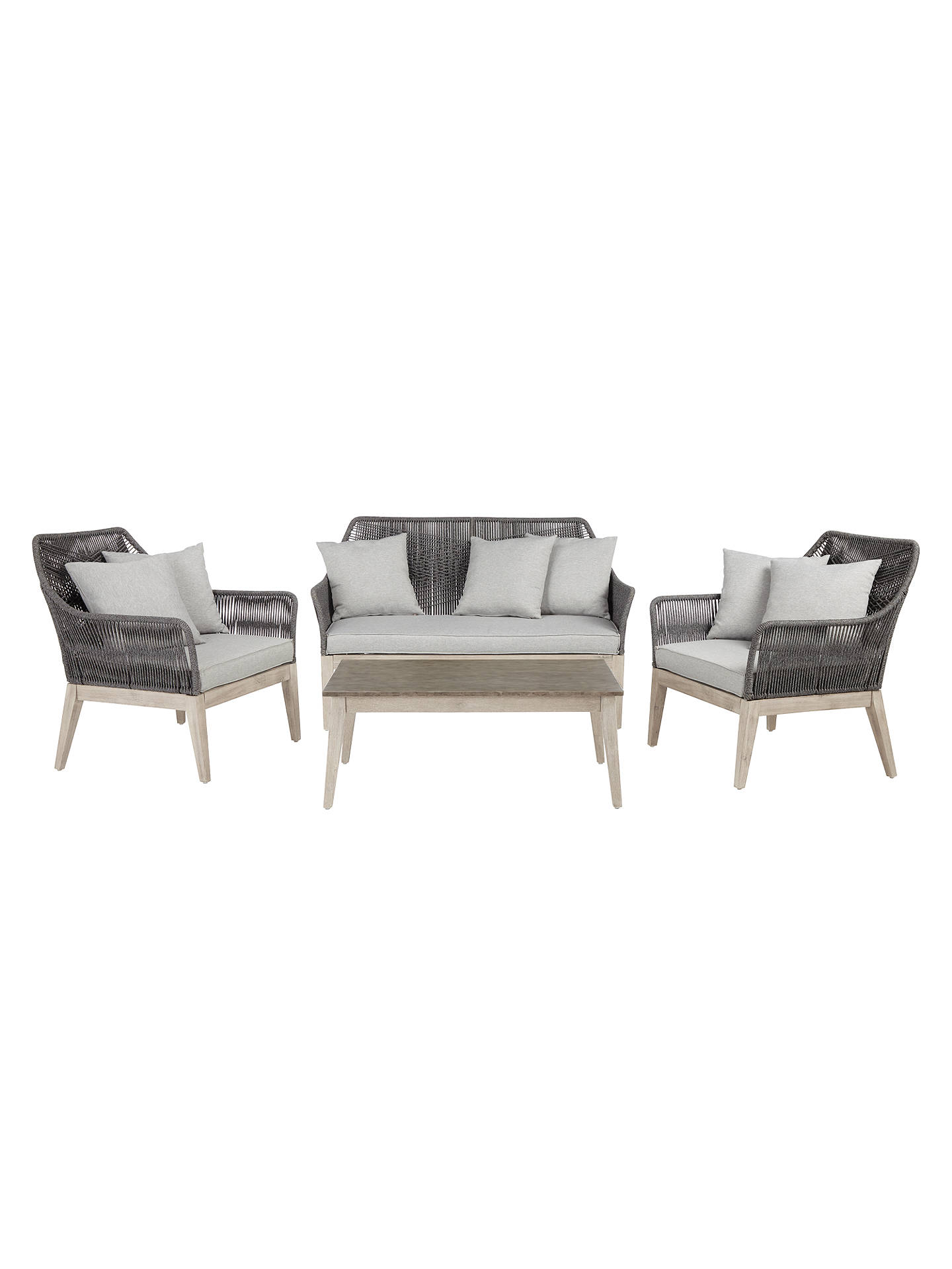 John Lewis Leia 2 Seater Garden Sofa Coffee Table And Lounging Armchair Pair