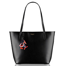 Buy Radley De Beauvoir Large Leather Tote Bag, Black Online at johnlewis.com