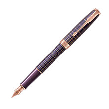 Buy Parker Sonnet Matrix Cisele Rose Gold Trim Fountain Pen, Purple Online at johnlewis.com