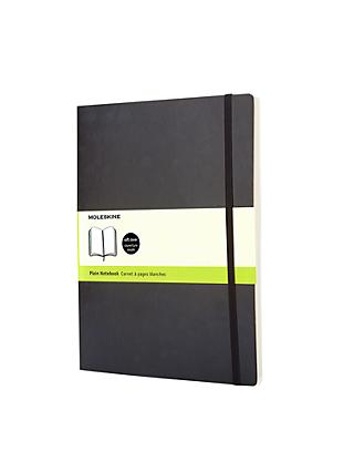 Moleskine Extra Large Soft Cover Plain Notebook, Black
