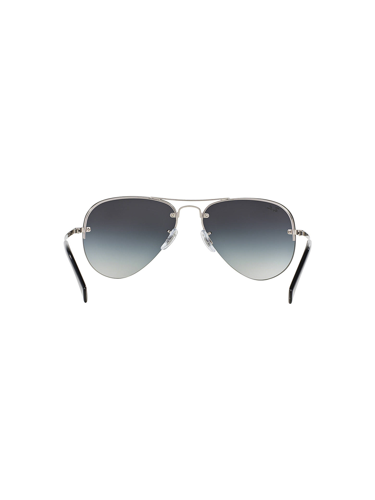 BuyRay-Ban RB3449 Aviator Sunglasses, Silver/Grey Gradient Online at johnlewis.com