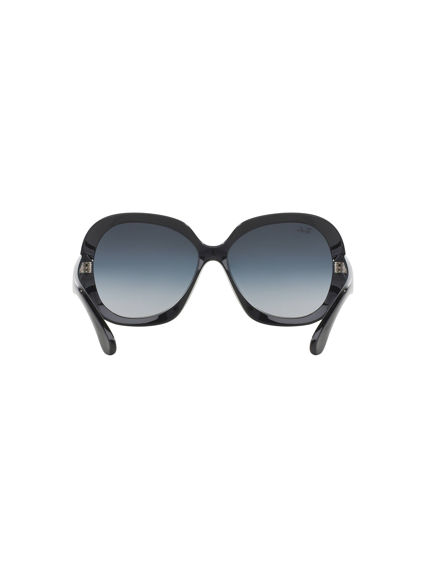 4ca53b8e76 ... Buy Ray-Ban RB4098 Jackie Ohh II Oversized Sunglasses, Black/Grey  Gradient Online ...