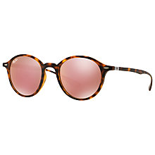 Buy Ray-Ban RB4237 Oval Sunglasses, Tortoise/Pink Online at johnlewis.com