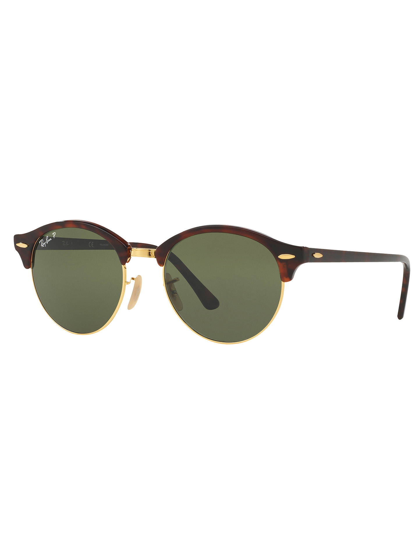 8887f5f5c43 Ray-Ban RB4246 Clubround Polarised Round Sunglasses at John Lewis ...