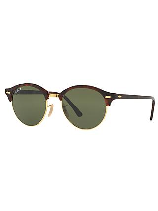 Ray-Ban RB4246 Clubround Polarised Round Sunglasses