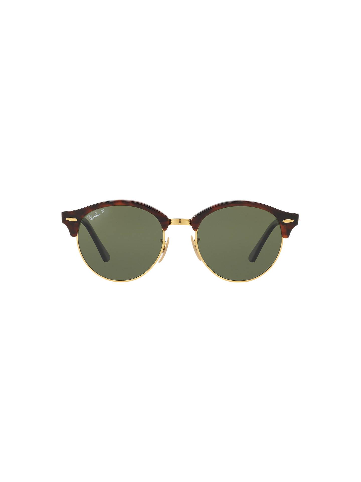 10c9129c58c86 Ray-Ban RB4246 Clubround Polarised Round Sunglasses at John Lewis ...