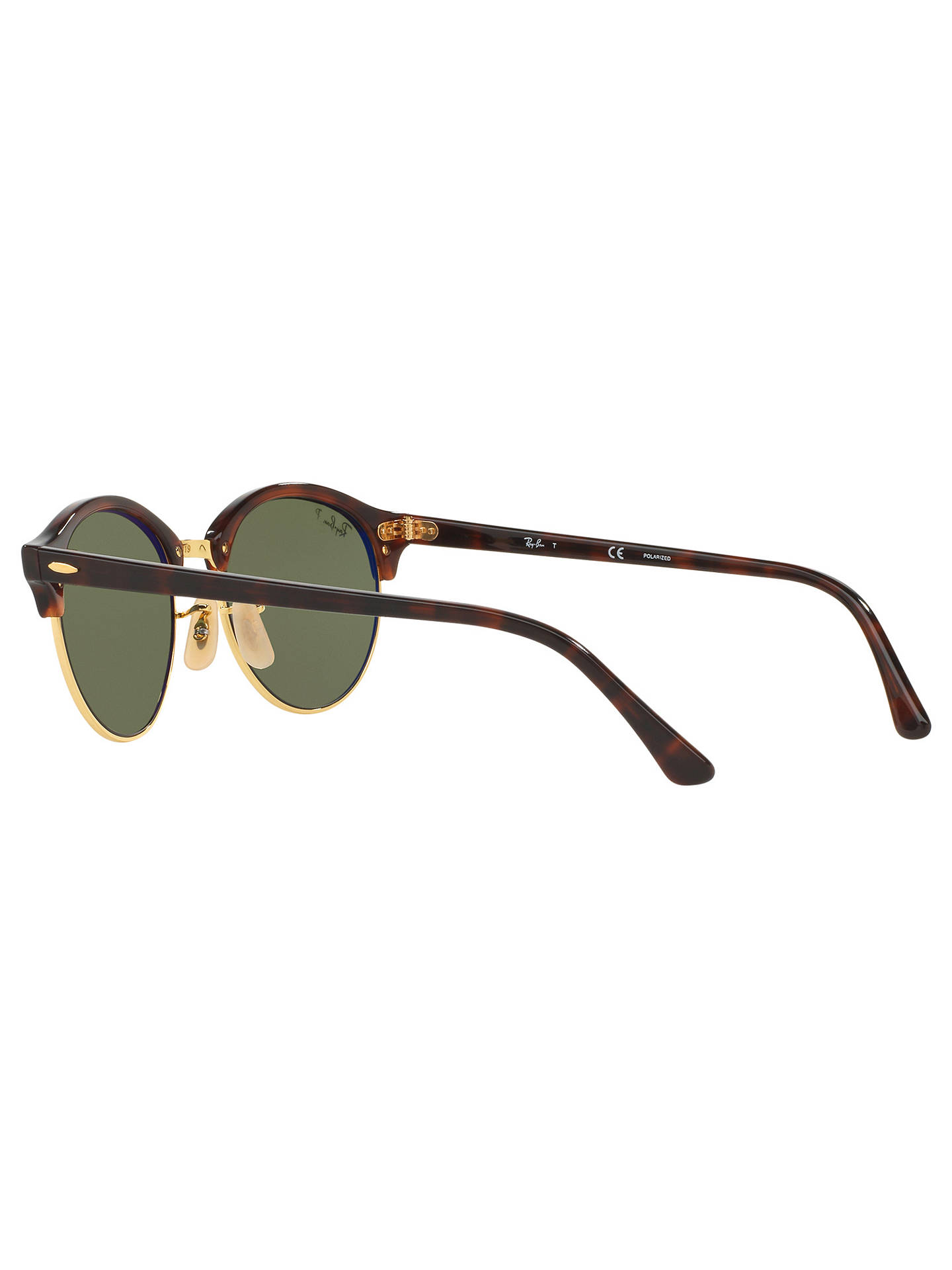 2dd5243b73 Ray-Ban RB4246 Clubround Polarised Round Sunglasses at John Lewis ...