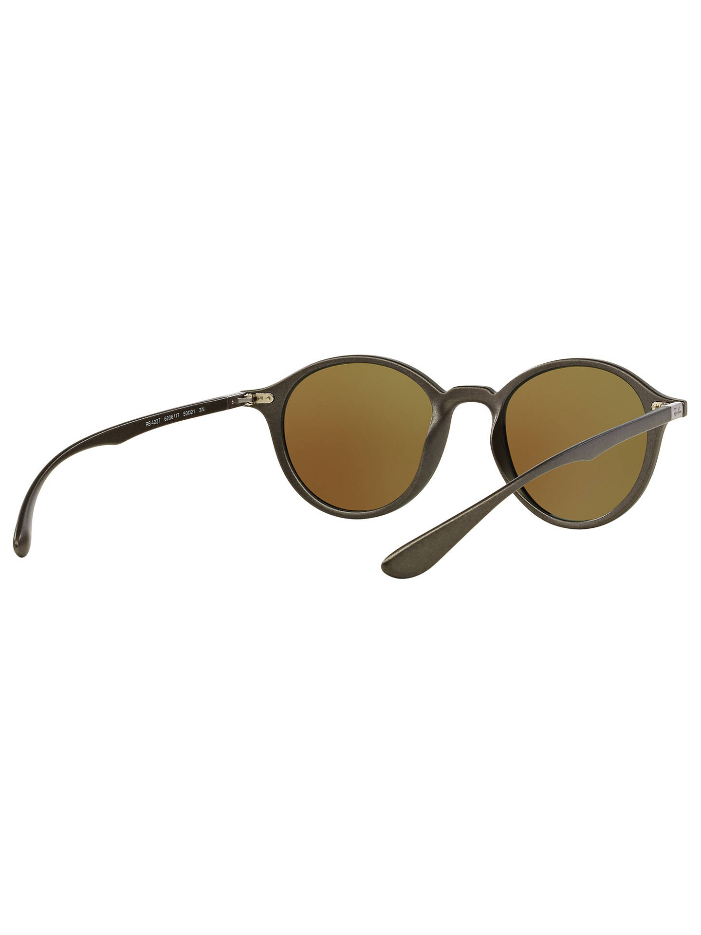 BuyRay-Ban RB4237 Oval Sunglasses, Dark Grey/Mirror Turquoise Online at johnlewis.com