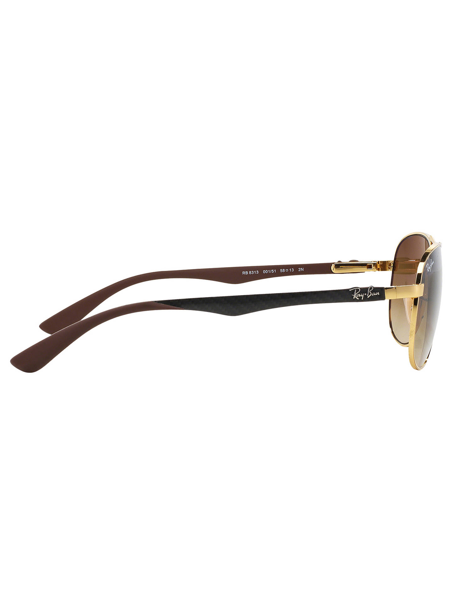 12308ed13a6c6 ... BuyRay-Ban RB8313 Aviator Sunglasses, Gold Brown Gradient Online at  johnlewis.com