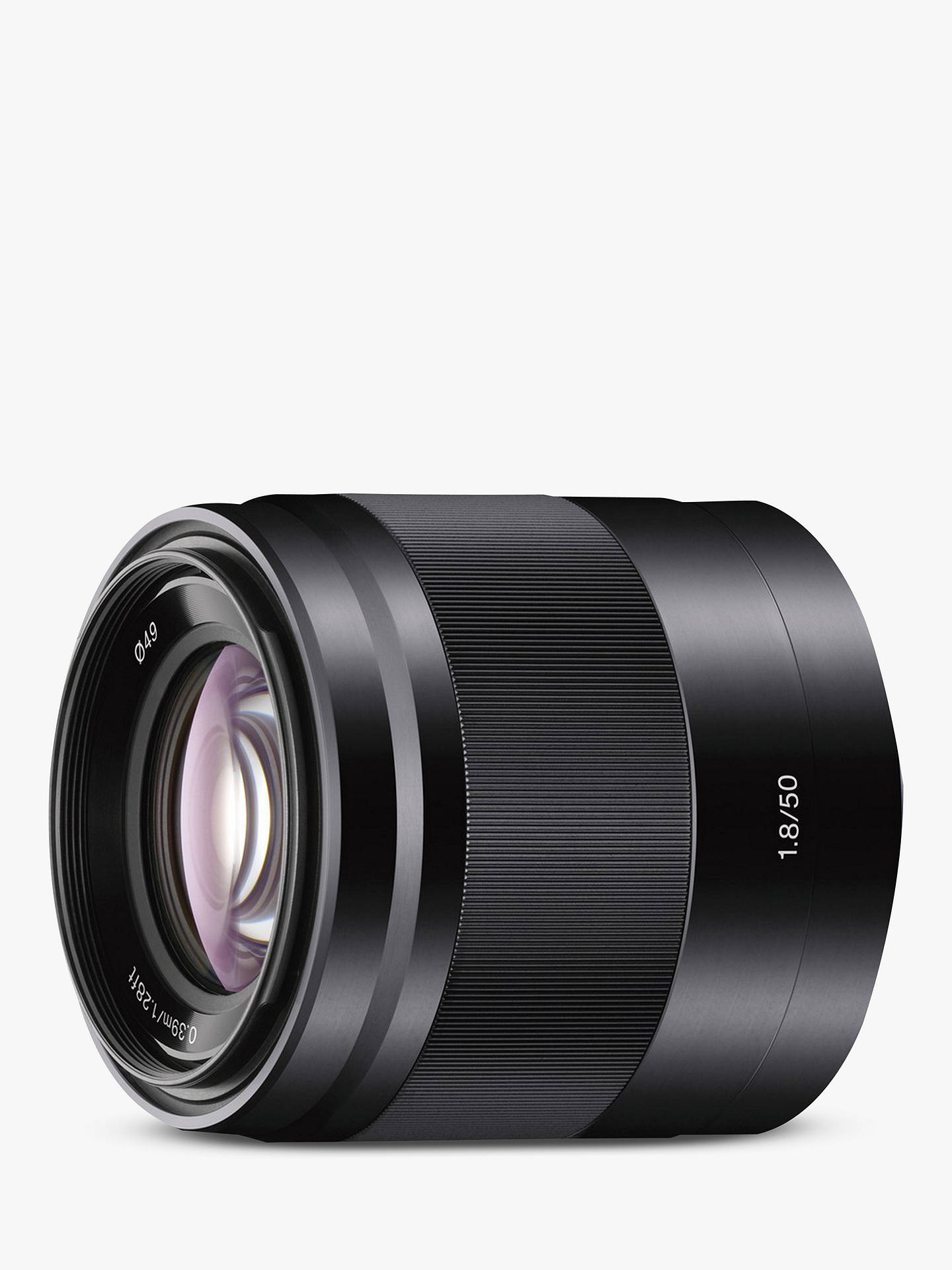 Buy Sony SEL50F18 E 50mm f/1.8 - f/22 OIS Portrait Lens Online at johnlewis.com