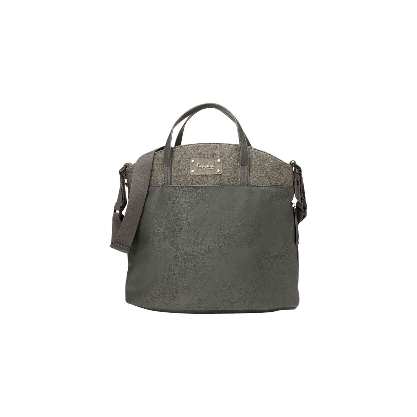 BuyBabymel Grace Faux Leather Changing Bag, Grey Online at johnlewis.com