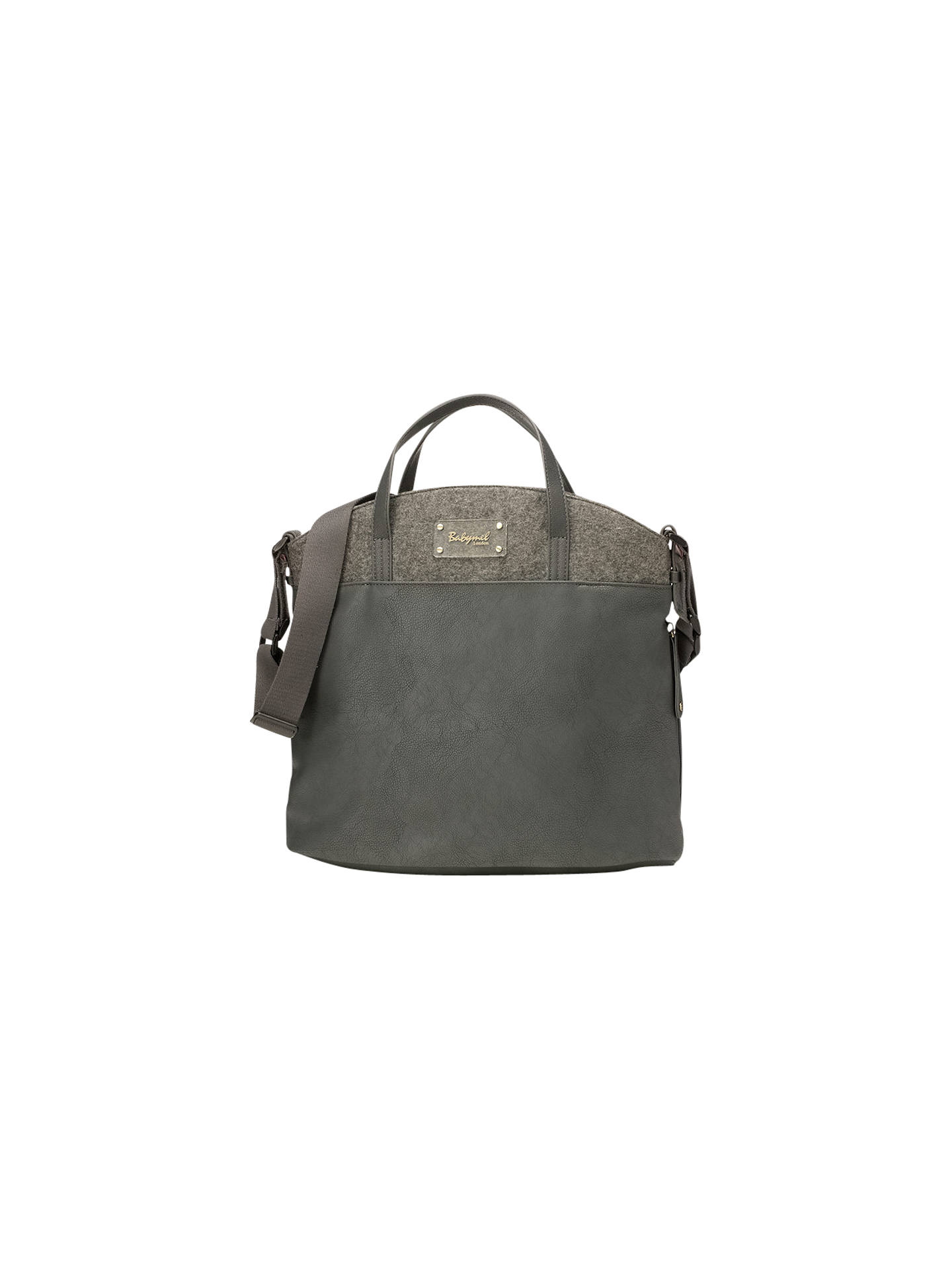 Babymel Grace Vegan Leather Changing Bag, Grey