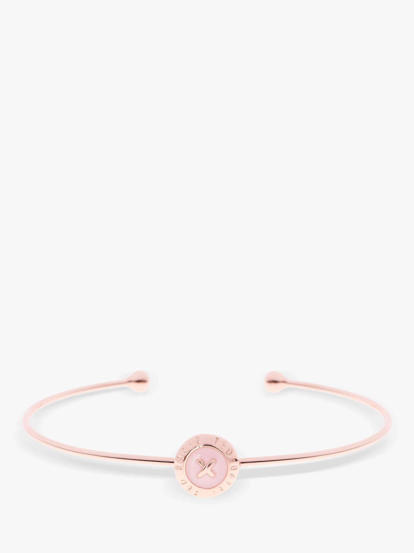 BuyTed Baker Elvas Enamel Button Bangle, Rose Gold Baby Pink Online at  johnlewis. 259e67d141