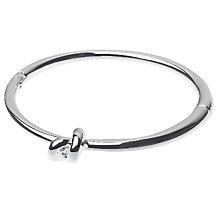Buy Adele Marie Shiny Hinged Bangle, Silver Online at johnlewis.com