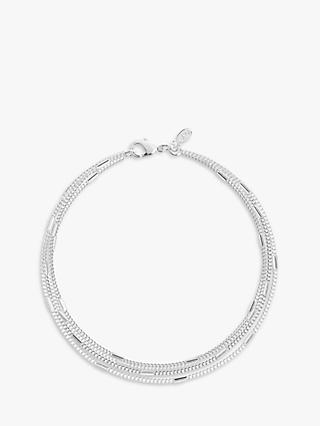Joma Jewellery Layered Chain Bracelet, Silver