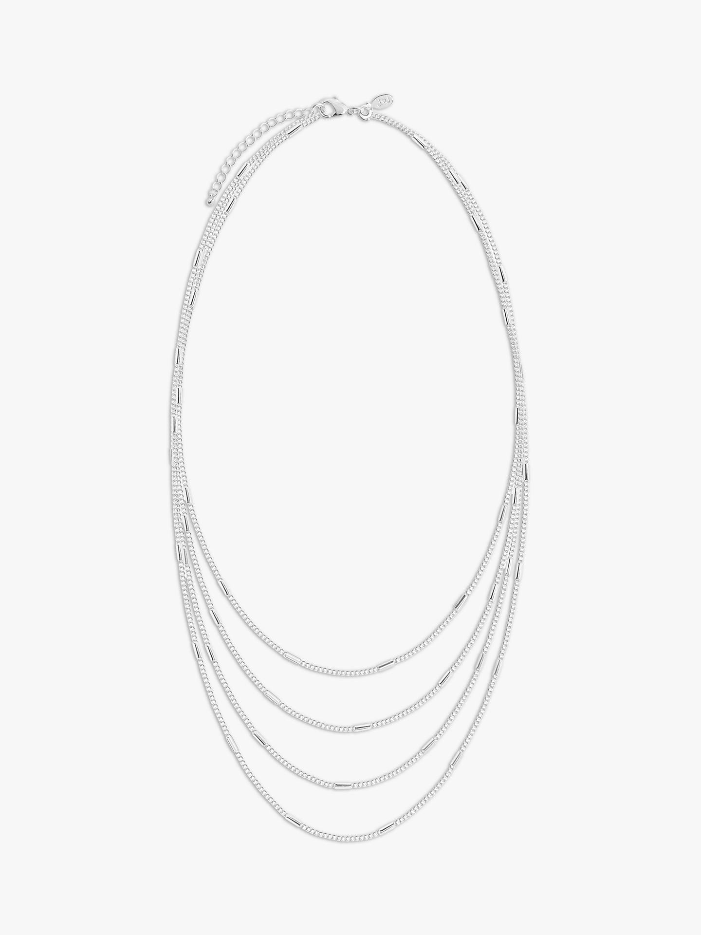 Buy Joma Jewellery Layered Chain Necklace, Silver Online at johnlewis.com