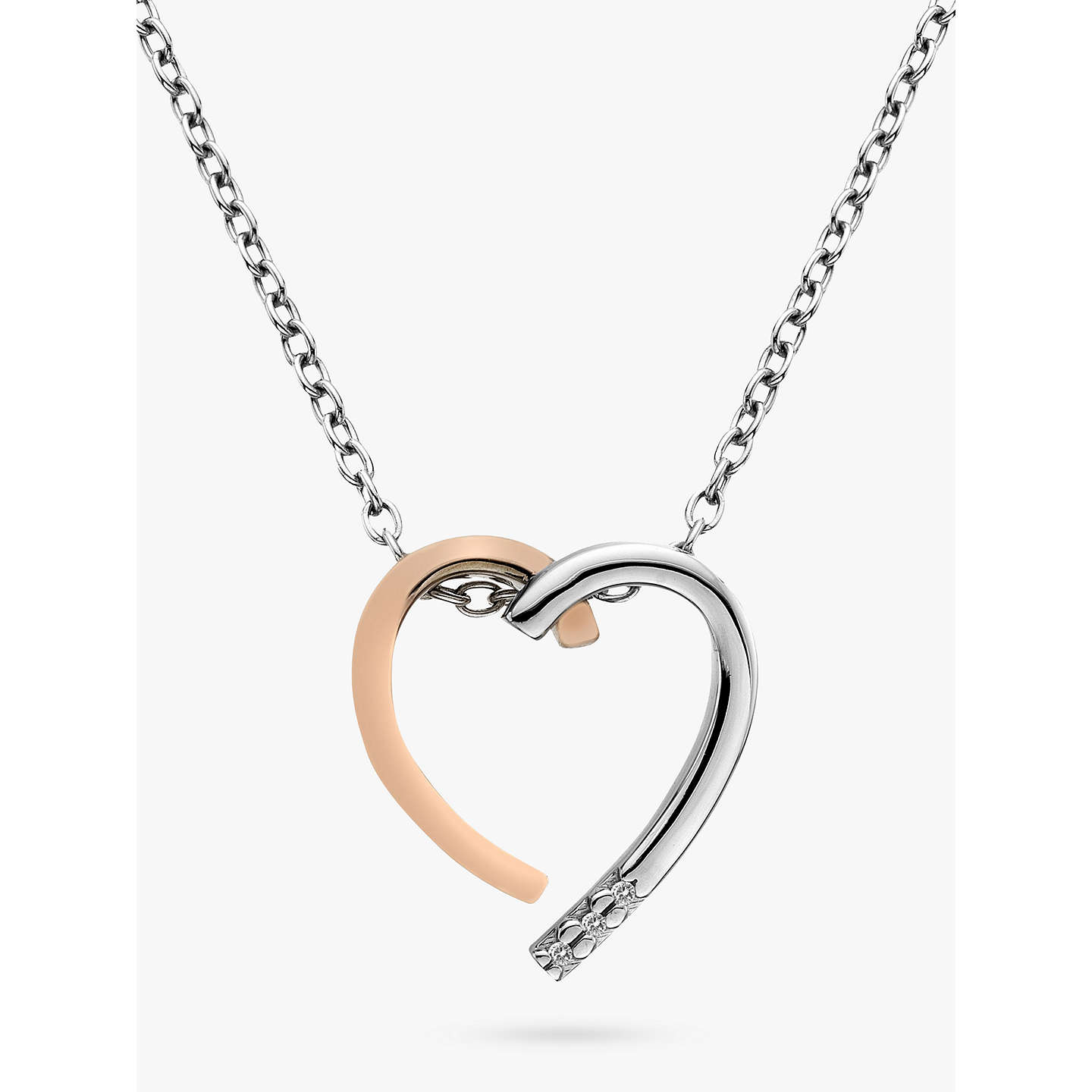 Hot diamonds large heart pendant necklace silverrose gold at john buyhot diamonds large heart pendant necklace silverrose gold online at johnlewis mozeypictures Gallery