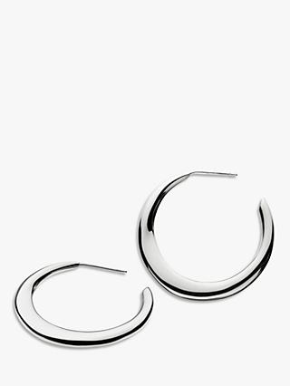 Kit Heath Sterling Silver Bevel Hoop Earrings