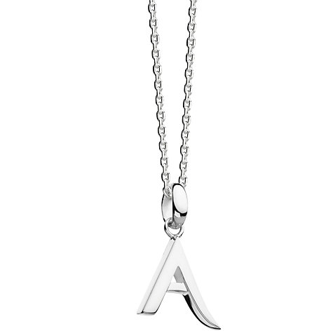 Buy kit heath sterling silver initial pendant necklace john lewis buy kit heath sterling silver initial pendant necklace online at johnlewis aloadofball Gallery