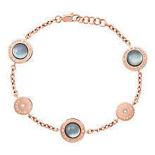 Buy Michael Kors Mother of Pearl Charm Chain Bracelet, Rose Gold/Grey Online at johnlewis.com