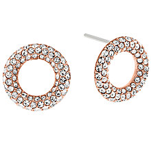 Buy Michael Kors Pave Crystal Circle Stud Earrings Online at johnlewis.com