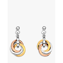 Buy Hot Diamonds Trio Round Drop Earrings, Silver/Gold Multi Online at johnlewis.com