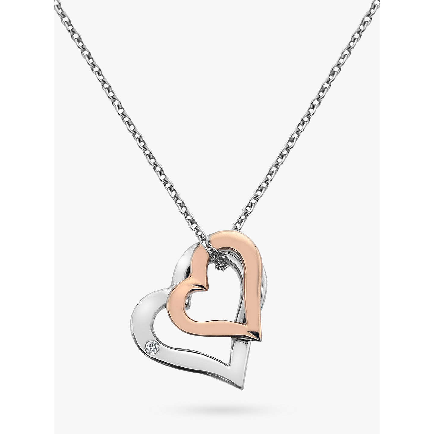 cz zirc heart paved pendant necklace diamonds round cubic open sterling zirconia love double original w products silver white