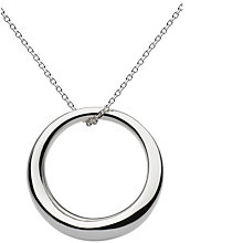 Buy Kit Heath Sterling Silver Bevel Curve Ring Pendant Necklace, Silver Online at johnlewis.com