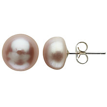 Buy Claudia Bradby Freshwater Pearl Button Stud Earrings, 9-10mm Online at johnlewis.com