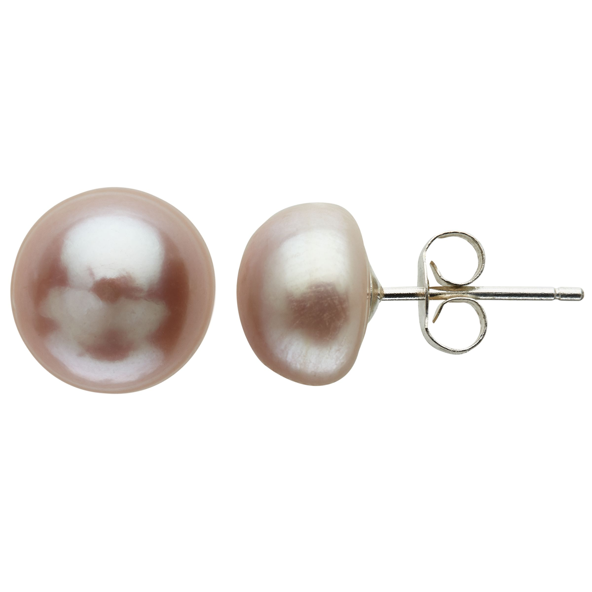 Claudia Bradby Claudia Bradby Freshwater Pearl Button Stud Earrings, 9-10mm