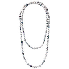 Buy Claudia Bradby Long Rice Freshwater Pearl Necklace, Silver/Multi Online at johnlewis.com