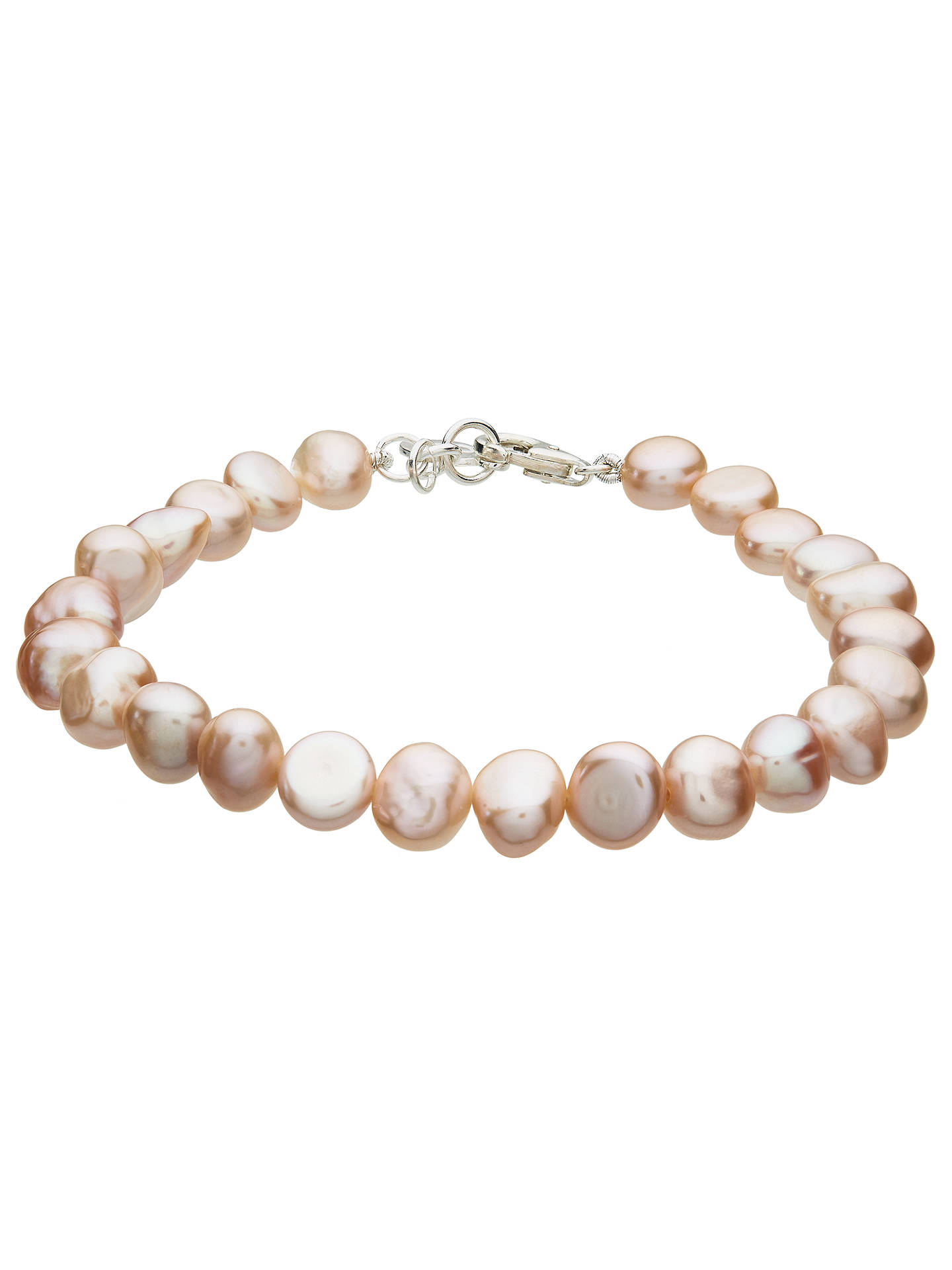 Buy Claudia Bradby Simple Pearl Bracelet, Pink Online at johnlewis.com