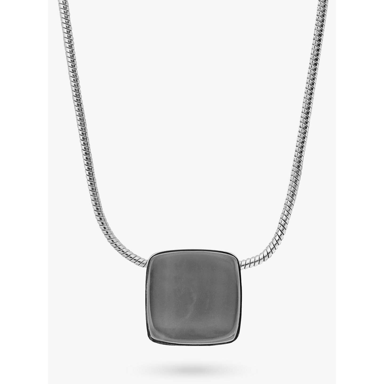 Skagen sea glass square pendant necklace silversteel blue buyskagen sea glass square pendant necklace silversteel blue skj0868040 online at johnlewis aloadofball Images