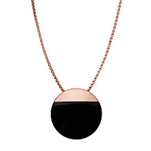 Buy Skagen Ellen Onyx Necklace, Black/Rose Gold Online at johnlewis.com