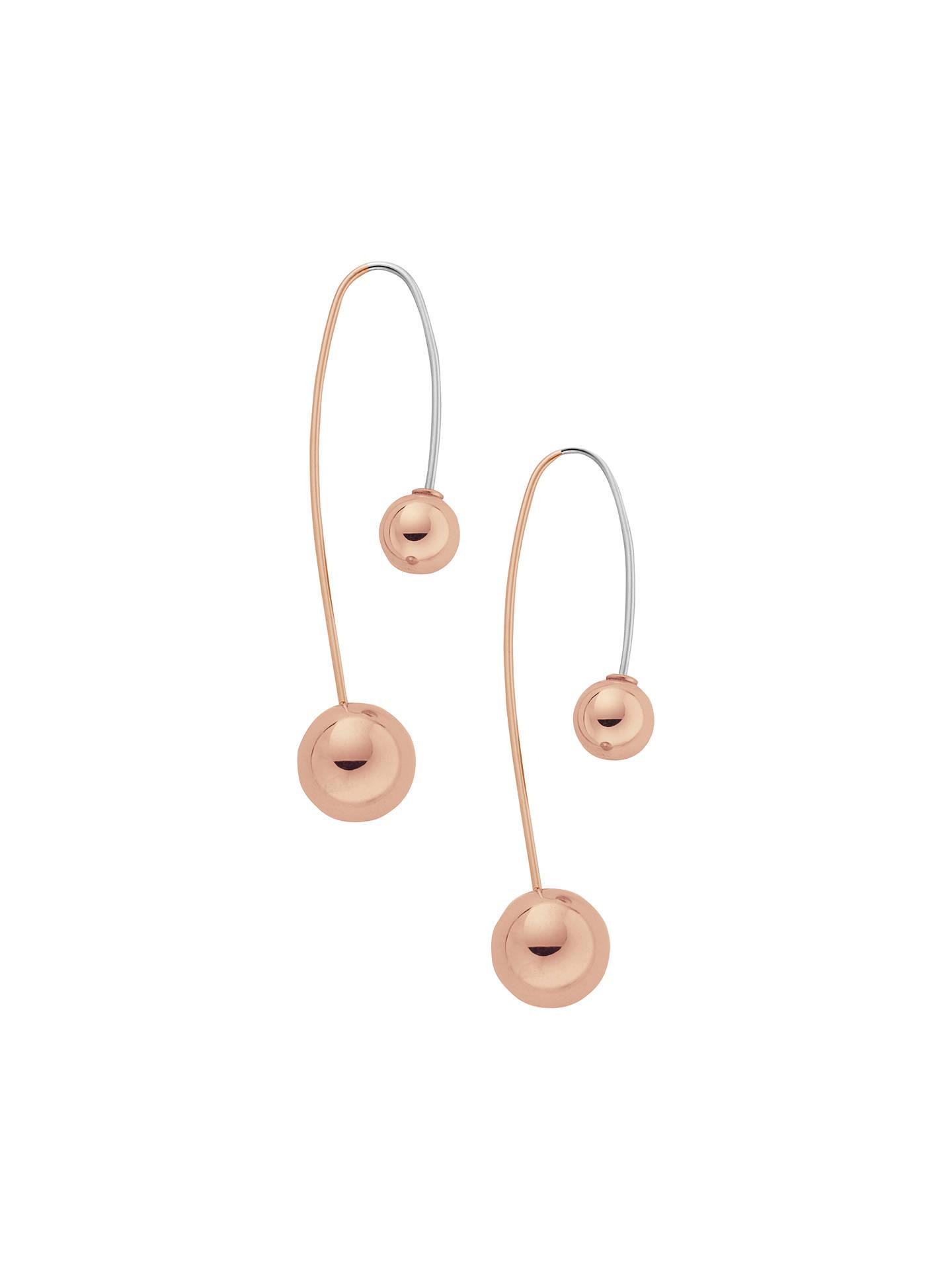2c7a7e720 Buy Skagen Elin Bead Drop Earrings, Rose Gold Online at johnlewis.com
