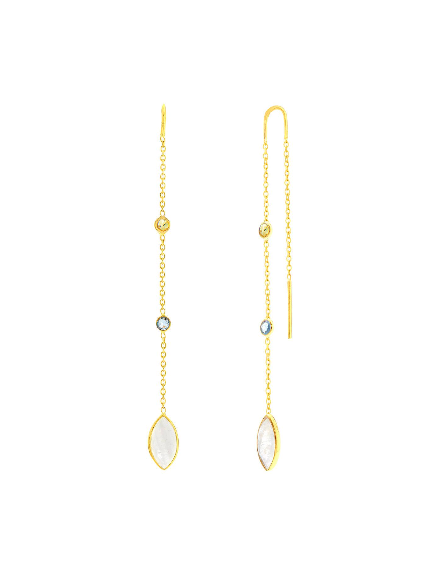 Auren 18ct Gold Vermeil Multi Gemstones Marquise Chain Drop Earrings Online
