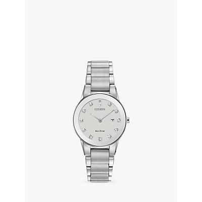 Citizen Women's Axiom Date Diamond Bracelet Strap Watch
