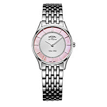 Buy Rotary Women's Les Originales Ultra Slim Bracelet Strap Watch Online at johnlewis.com