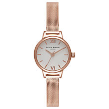 Buy Olivia Burton Women's Mini Dial Bracelet Mesh Strap Watch Online at johnlewis.com
