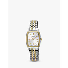 Buy Seiko Women's Rectangular Dial Bracelet Strap Watch Online at johnlewis.com