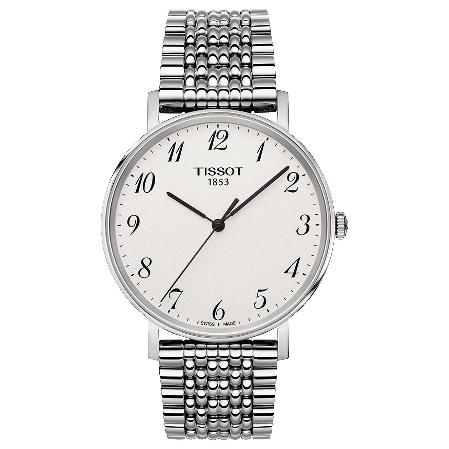 Latest New Tissot T1094101103200 T-Classic Everytime Bracelet Strap Silver/White for Men Online Online