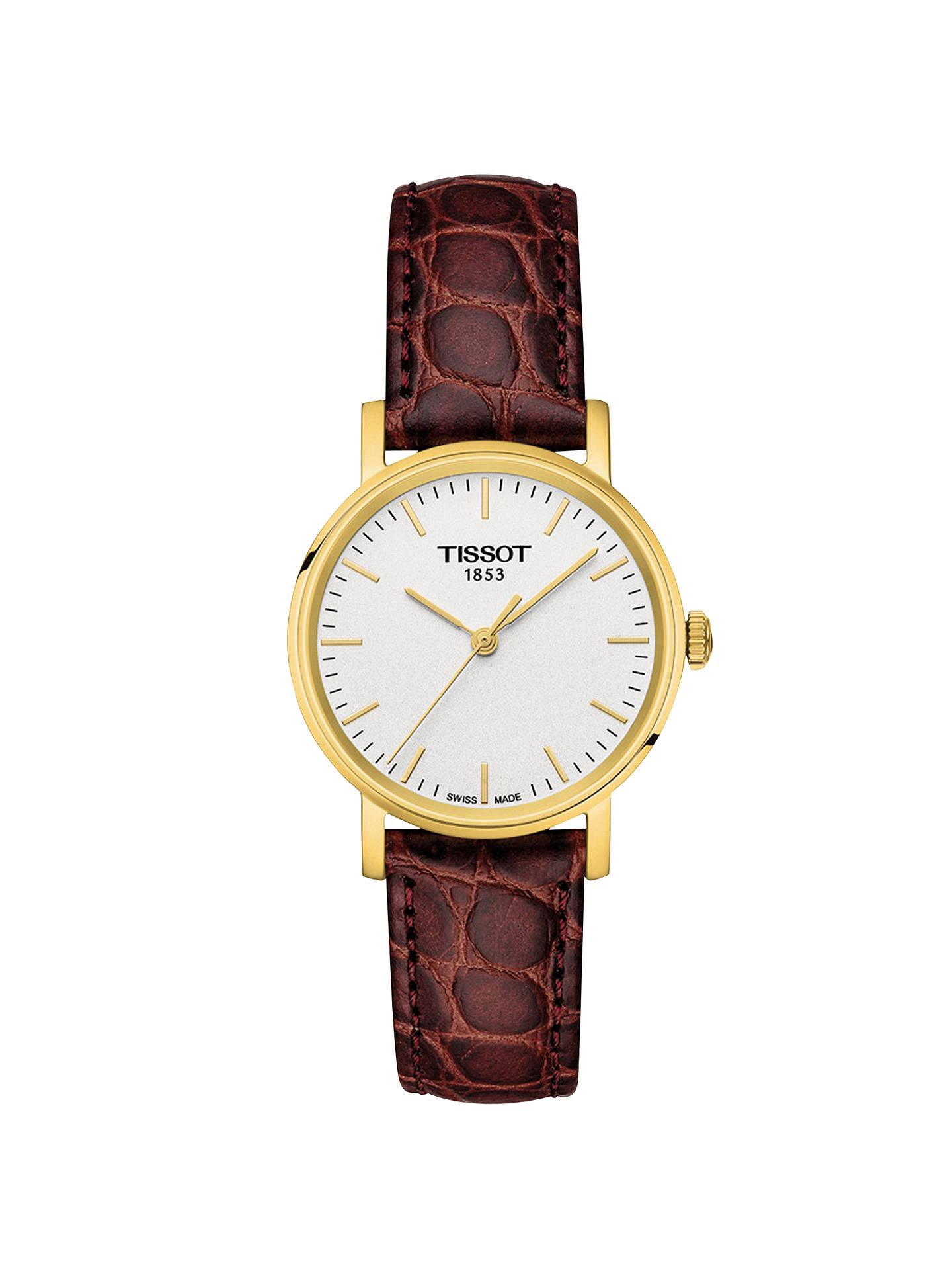 5dd981dedcf Buy Tissot T1092103603100 Women s Everytime Leather Strap Watch
