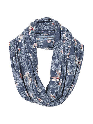 Buy Fat Face Butterfly Print Snood, Slate Blue/Multi Online at johnlewis.com