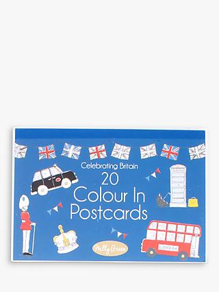 Milly Green Celebration of Britain Colour Your Own Postcards, Pack of 20