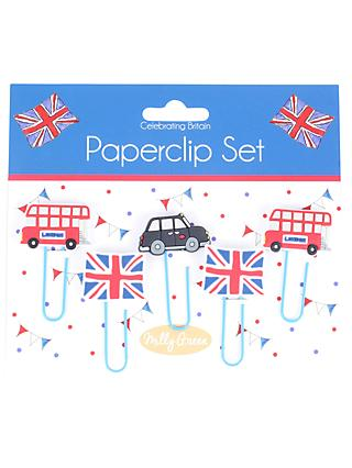 Milly Green Celebration of Britain London Paperclips, Set of 5