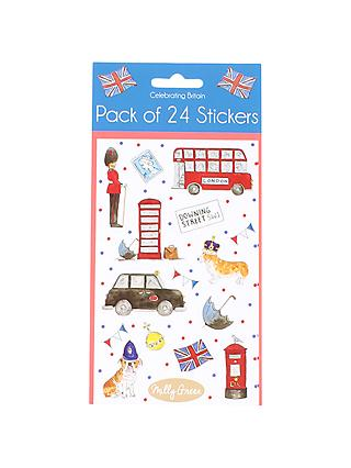 Milly Green London Bus Stickers, Pack of 24