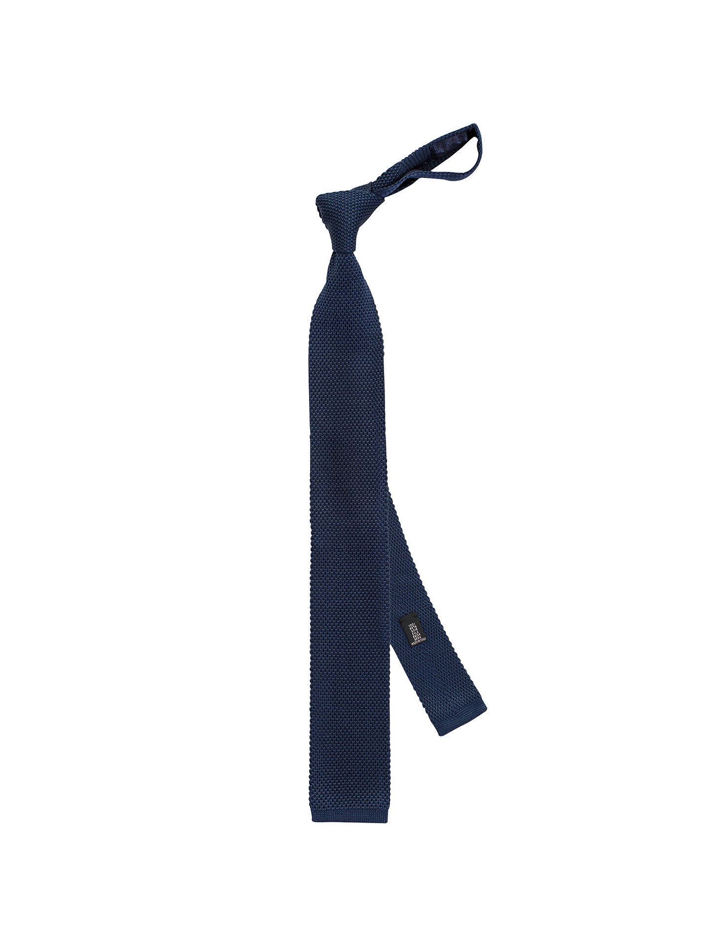 6a51e9edefe5 Buy Thomas Pink Dilham Plain Knitted Tie, Navy Online at johnlewis.com ...
