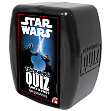 Buy Top Trumps Star Wars Quiz Online at johnlewis.com
